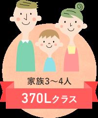 イメージ:家族3~4人 370Lクラス