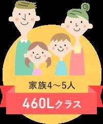 イメージ:家族4~5人 460Lクラス